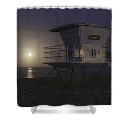 Tamarack Moonset Shower Curtain