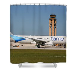 Tame Airline Shower Curtain