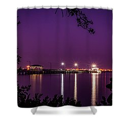 Tampa Bay Fishing Pier Shower Curtain