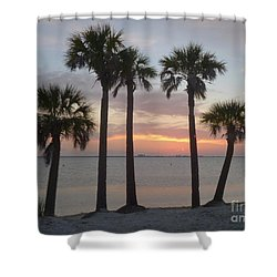 Tampa Bay Sunset Shower Curtain by Gail Kent