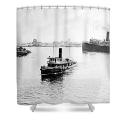 Tampa Florida - Harbor - C 1926 Shower Curtain