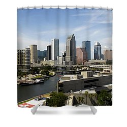 Tampa Florida Landscape Shower Curtain by David Lee Thompson