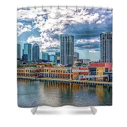 Tampa Florida Skyline Shower Curtain