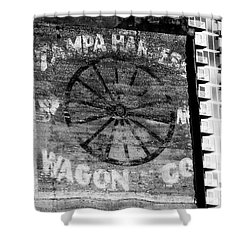 Tampa Harness Wagon N Company Shower Curtain by David Lee Thompson