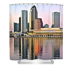 Tampa In Vivid Color Shower Curtain