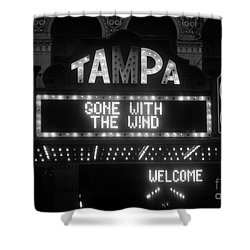 Tampa Theatre 1939 Shower Curtain by David Lee Thompson