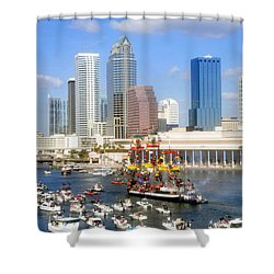 Tampa's Flag Ship Shower Curtain by David Lee Thompson