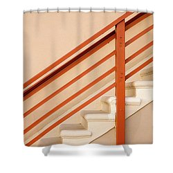 Tan Stairs Venice Beach California Shower Curtain