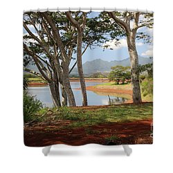 Tanada Reservoir Oahu Shower Curtain