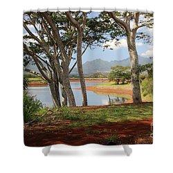 Tanada Reservoir Oahu Shower Curtain