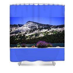 Tanaya Lake Wildflowers Yosemite Shower Curtain