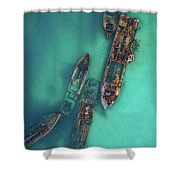 Tangalooma Wrecks Shower Curtain