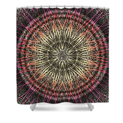 Tangendental Meditation Shower Curtain