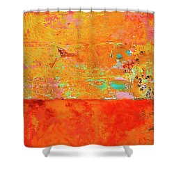 Tangerine Dream Shower Curtain by Skip Hunt