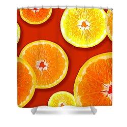 Tangerine Tango Shower Curtain by Tara Hutton