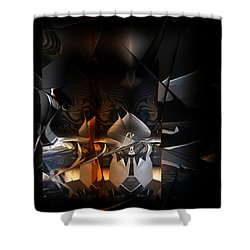 Shower Curtain featuring the digital art Tangier by Vadim Epstein