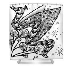 Tangled Serpent Shower Curtain by Jan Steinle