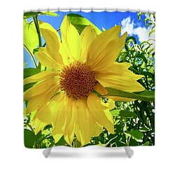 Tangled Sunflower Shower Curtain