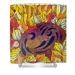 Tangled Sunflower Shower Curtain