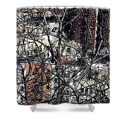 Tangled Town Shower Curtain by Sarah Loft