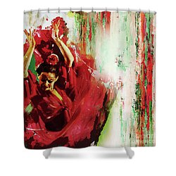 Shower Curtain featuring the painting Tango Dance 45g by Gull G