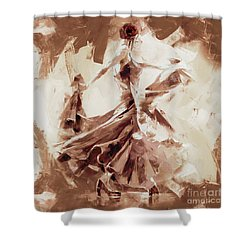 Shower Curtain featuring the painting Tango Dance 9910j by Gull G