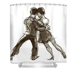 Tango Triangle Shower Curtain