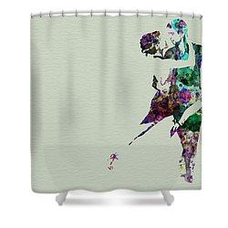 Tango Shower Curtain by Naxart Studio