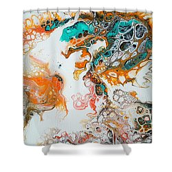 Tango With Turquoise Shower Curtain