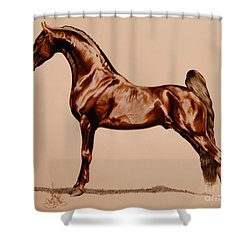 Tangos Daylight - Saddlebred Stallion Shower Curtain