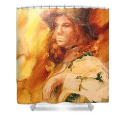 Shower Curtain featuring the painting Tangy by Denise Fulmer