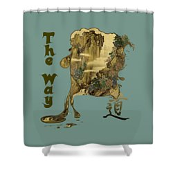 Shower Curtain featuring the painting Tani Buncho Chi by Robert G Kernodle
