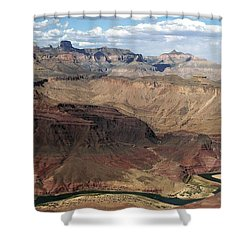 Tanner Rapids And The Colorado River Grand Canyon National Park Shower Curtain