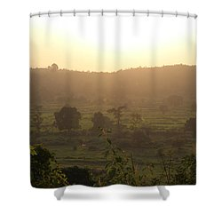 Tansa Valley, Vajreshwari From The Devi Temple Complex Shower Curtain by Jennifer Mazzucco