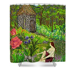 Tansel's Garden Shower Curtain