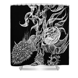 Tansight Burst Shower Curtain by Charles Cater