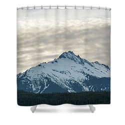 Tantalus Mountain Range Closeup Shower Curtain