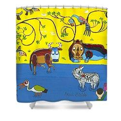 Tanzania   Jul Shower Curtain