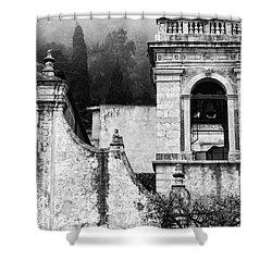 Taormina Church Detail Shower Curtain by Silvia Ganora