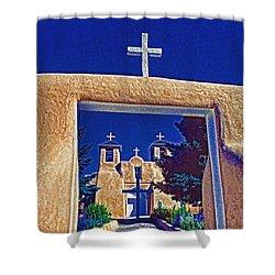Taos Church Shower Curtain
