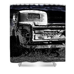 Taos Dodge B-w Shower Curtain