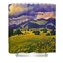 Taos Fields Of Yellow Shower Curtain