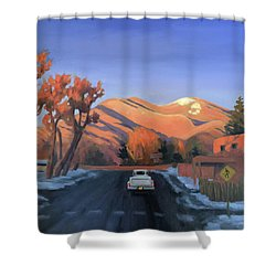 Taos In The Golden Hour Shower Curtain