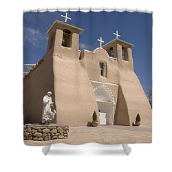 Taos Landmark Shower Curtain by Jerry McElroy
