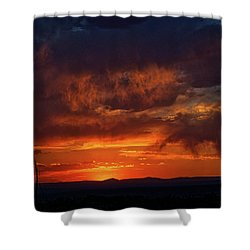 Taos Virga Sunset Shower Curtain by Jason Coward