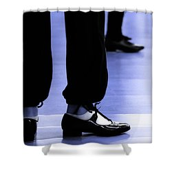 Tap Dance In Blue Are Shoes Tapping In A Dance Academy Shower Curtain