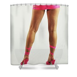 Tape And Heels Shower Curtain by Robert WK Clark