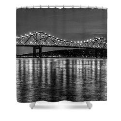 Tappan Zee Bridge Twilight IIi Shower Curtain