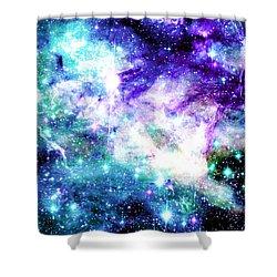 Tarantula Nebula Purple Teal Shower Curtain