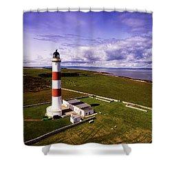 Tarbat Ness Lighthouse Shower Curtain